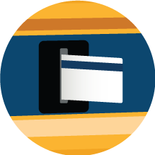 credit or debit card being inserted